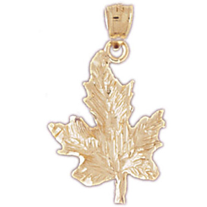 14k gold maple leaf charm