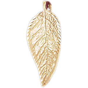 14k gold leaf pendant