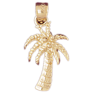14kt gold palm tree charm