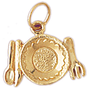 14k gold kitchen utensil charm