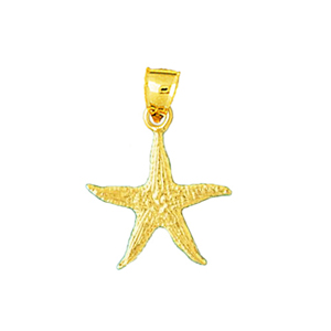 14k gold starfish sealife charm
