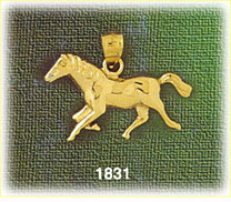 14k gold polished horse charm