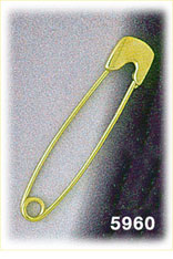 14k gold baby safety pin