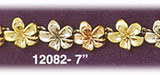 14kt tri color gold hawaiian plumeria bracelet