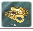14Kt Gold Horse Ring