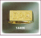 14K Gold Dad's Men's Ring