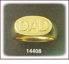 14K Gold DAD Ring