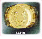 14Kt Gold Horse Shoe Ring