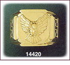 14K Gold Eagle Ring
