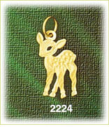 14k gold baby deer with spots charm