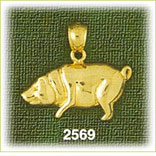 14k gold polished charm