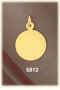 14k gold engravable round disc charm