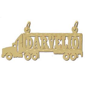14k gold designer truck personalized nameplate