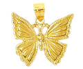 14k gold butterfly charms