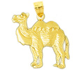 14k gold camel charms