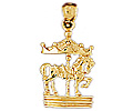 14k gold carousel charms