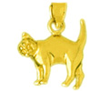 14k gold cat charms