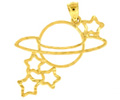 14k gold celestial charms