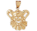 14k gold clown charms