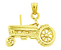 14k gold construction charms