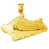 14k gold cruise ship charm