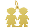 14k gold engraved Baby disc charms