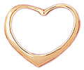 14k gold floating heart charms
