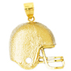 14k gold football charms