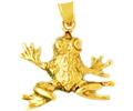 14k gold frog charms