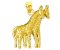 14k gold giraffe charms