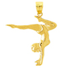 14k gold gymnastic charms
