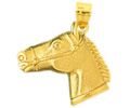 14k gold horse charms