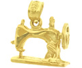 14k gold household charms