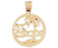 14k gold island charms