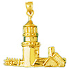 14k gold lighthouse charm