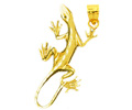 14k gold lizard charms