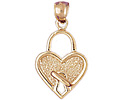14k gold lock charms