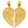 14k gold mizpah charms