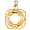 14k gold nautical charm
