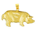 14k gold pig charms