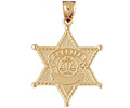 14k gold police badges charms