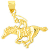 14k gold polo charms