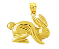 14k gold rabbit charms