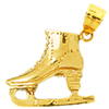 14k gold skating charms