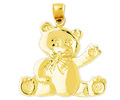 14k gold teddy bear charms