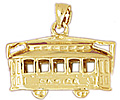 14k gold train charms