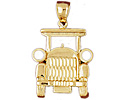 14k gold transportationcharm
