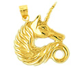 14k gold unicorn charms