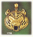 14k gold tiger head charm