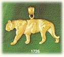 14k gold muscular tiger charm